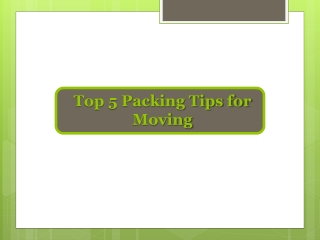 Get Packing Tips for moving