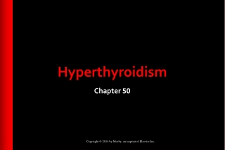 Clinical features and management of  HYPERTHYROIDISM