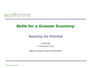 Skills for a Greener Economy: