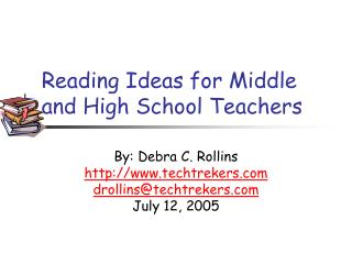 Reading Ideas for Middle and High School Teachers