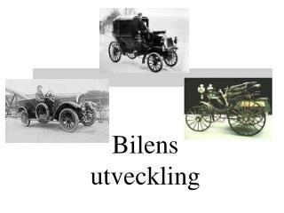Bilens utveckling