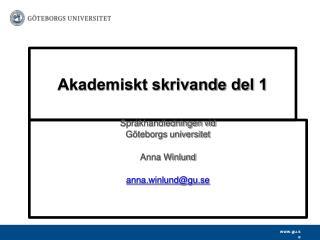 Akademiskt skrivande del 1
