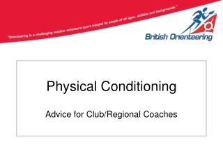 Physical Conditioning Advice for Club/Regional Coaches