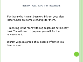Beginner Tips For Bikram Yoga