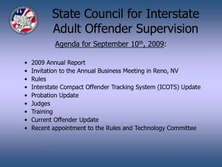 State Council for Interstate Adult Offender Supervision