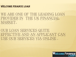 Welcome Loan Finance A Money Maker