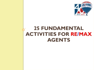 25 Fundamental Activities for Real Estate Agent