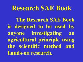 Research SAE Book