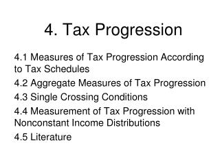 4. Tax Progression