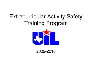 Extracurricular Activity Safety Training Program