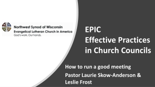 EPIC Effective Practices in Church Councils