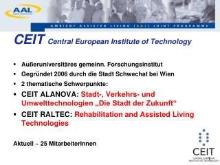 CEIT  Central European Institute of Technology
