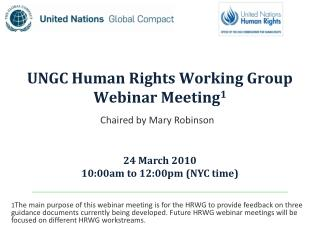 UNGC Human Rights Working Group Webinar Meeting1