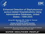 enhanced detection of staphylococcus aureus-related hospitalizations using administrative databases, united states
