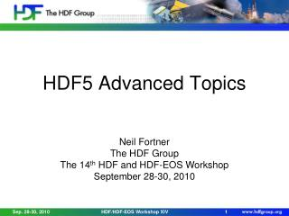 HDF5 Advanced Topics