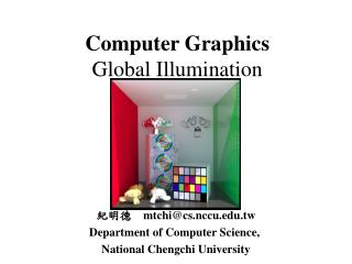 Computer Graphics Global Illumination