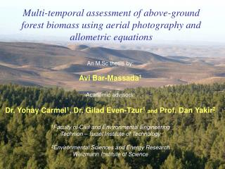 Multi-temporal assessment of above-ground forest biomass using aerial photography and allometric equations
