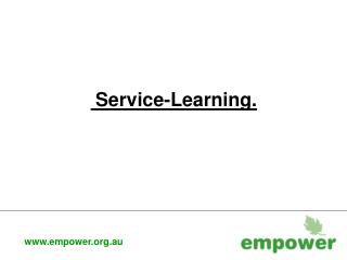 Service-Learning.