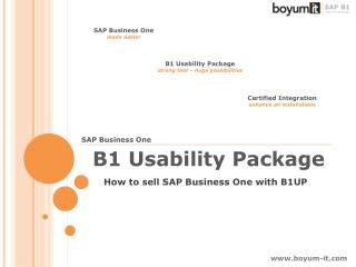 How to sell SAP Business One with B1UP