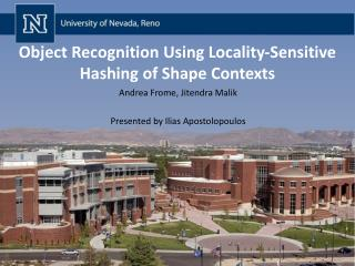 Object Recognition Using Locality-Sensitive Hashing of Shape Contexts