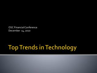 Top Trends in Technology