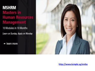 Executive Master of Business Administration (EMBA) in Singap
