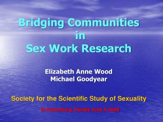 Elizabeth Anne Wood Sociology Nassau Community College, NY
