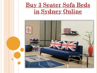 Buy 3 Seater Sofa Beds in Sydney Online