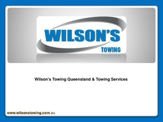 Wilson's Towing Queensland
