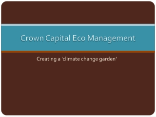 Creating a 'climate change garden'