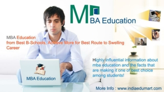 MBA Education in India