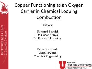Copper Functioning as an Oxygen Carrier in Chemical Looping Combustion