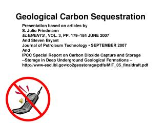 Geological Carbon Sequestration