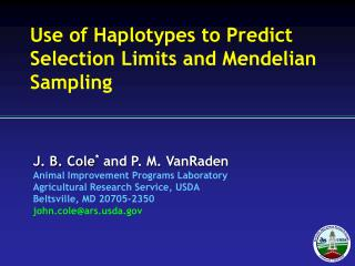 Use of Haplotypes to Predict Selection Limits and Mendelian Sampling