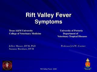 Rift Valley Fever Symptoms