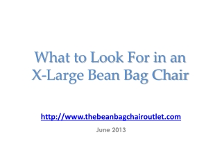 What to Look For in an X-Large Bean Bag Chair