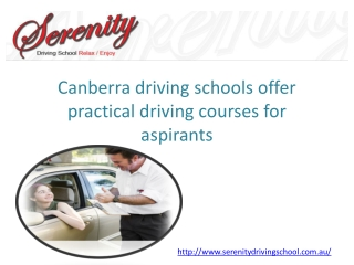 Driving School In Canberra