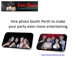 Hire Photo Booth Perth