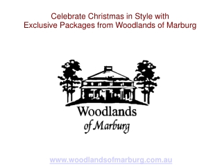 Celebrate Christmas in Style with Exclusive Packages from Wo