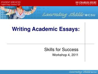 Writing Academic Essays: