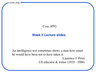 Week 3 Lecture slides