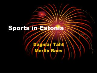Sports in Estonia
