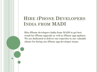 Hire iPhone Programmer to Update iPhone App