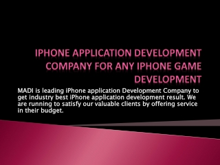 iPhone Developer India for hire to iPhone game developer