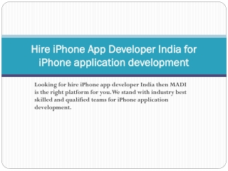 Hire iPhone Application Developer India