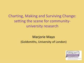 Charting, Making and Surviving Change: setting the scene for community-university research