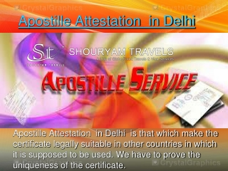 Apostille Attestation  in Delhi