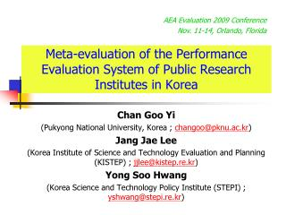 Meta-evaluation of the Performance Evaluation System of Public Research Institutes in Korea