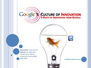 's  Culture of  Innovation