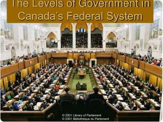 The Levels of Government in Canada's Federal System
